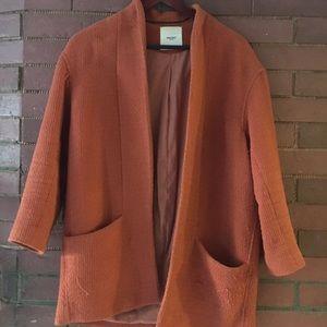 Burnt orange smoking jacket